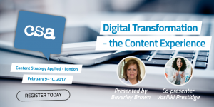 Digital Transformation - the Content Experience